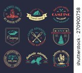 vector set of vintage camping... | Shutterstock .eps vector #270900758