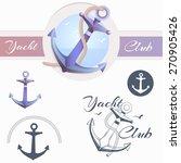 anchor logo  yacht club text ... | Shutterstock .eps vector #270905426