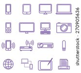 gadgets and technology icons...