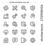 general setting icons set  line ... | Shutterstock .eps vector #270908426