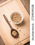 soybeans in white ceramic bowl... | Shutterstock . vector #270909038
