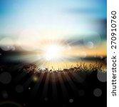 grassy landscape against a... | Shutterstock .eps vector #270910760