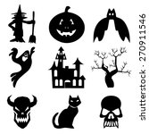 halloween icons set great for... | Shutterstock .eps vector #270911546