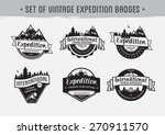 set of emblem with mountains... | Shutterstock .eps vector #270911570