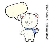 cartoon polar bear waving with... | Shutterstock .eps vector #270912956