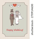 the bride and groom  wedding... | Shutterstock .eps vector #270914630