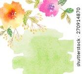 invitation card for wedding... | Shutterstock .eps vector #270914870
