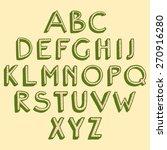 handwritten vector alphabet... | Shutterstock .eps vector #270916280