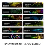 12 horizontal party banners... | Shutterstock .eps vector #270916880
