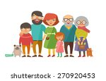 portrait of six member happy... | Shutterstock .eps vector #270920453