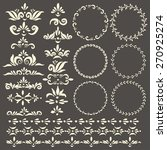 set of vector decorative... | Shutterstock .eps vector #270925274