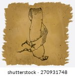 a worn parchment with a design... | Shutterstock .eps vector #270931748