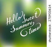 vector hand lettering... | Shutterstock .eps vector #270933614