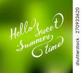 vector hand lettering... | Shutterstock .eps vector #270933620
