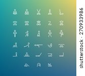 full set of vector yoga icons   ... | Shutterstock .eps vector #270933986