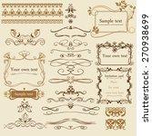decorative calligraphic... | Shutterstock .eps vector #270938699