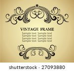 vintage frame | Shutterstock .eps vector #27093880