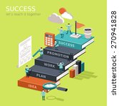 flat 3d isometric infographic... | Shutterstock .eps vector #270941828