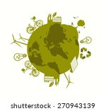 digitally generated earth day... | Shutterstock .eps vector #270943139