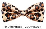 Bow Tie Animal Print With...