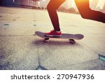 woman skateboarder legs... | Shutterstock . vector #270947936