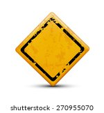 metal warning sign isolated on... | Shutterstock . vector #270955070