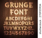 grunge letters and numbers on... | Shutterstock .eps vector #270955934
