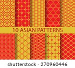10 different chinese asian... | Shutterstock .eps vector #270960446