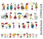 mega collection of cartoon... | Shutterstock . vector #270961118