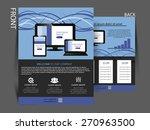 vector flyer  brochure ... | Shutterstock .eps vector #270963500