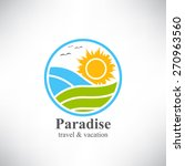 paradise. summertime traveling... | Shutterstock .eps vector #270963560