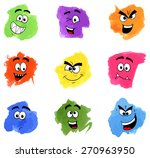illustration of color patches... | Shutterstock . vector #270963950