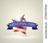 memorial day with star in... | Shutterstock .eps vector #270967046