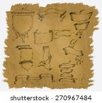a worn parchment with some... | Shutterstock .eps vector #270967484