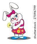 the white rabbit | Shutterstock . vector #27096799