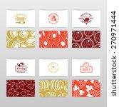 set of wine business cards....   Shutterstock .eps vector #270971444