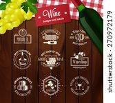 set of elegant wine badges and... | Shutterstock .eps vector #270972179