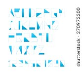 modern corporate branding font... | Shutterstock .eps vector #270972200