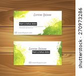 watercolor business cards on... | Shutterstock .eps vector #270973286
