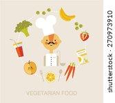 vegetarian chef.  vegetarian... | Shutterstock .eps vector #270973910