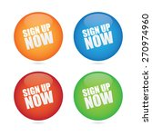 sign up now sphere labels | Shutterstock .eps vector #270974960