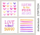 vector collection of love cards ...   Shutterstock .eps vector #270975224