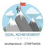 abstract flat mountain icon.... | Shutterstock .eps vector #270976424