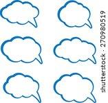 dialog set  | Shutterstock .eps vector #270980519