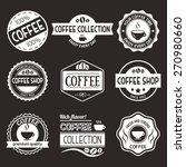 set of vector coffee elements....   Shutterstock .eps vector #270980660