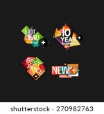 set of labels  stickers ...   Shutterstock .eps vector #270982763