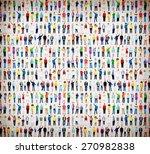 multiethnic casual people... | Shutterstock . vector #270982838
