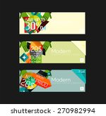 set of banners with stickers ... | Shutterstock .eps vector #270982994