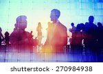 silhouette global business... | Shutterstock . vector #270984938