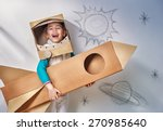 child is dressed in an... | Shutterstock . vector #270985640